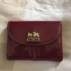 Coach Bags - Coach patent leather business card case